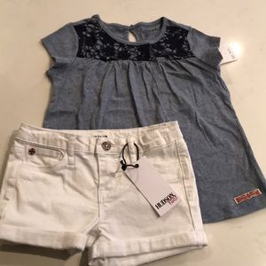 Hudson jeans girls shorts and top
